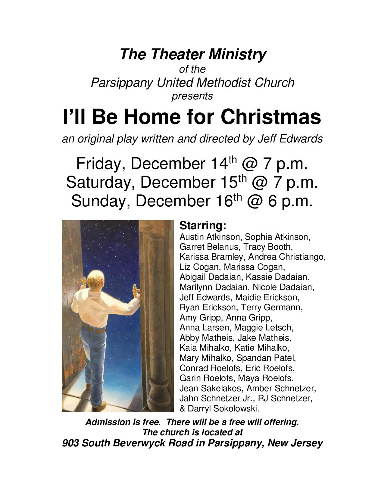 Ill Be Home For Christmas Cast.I Ll Be Home For Christmas Parsippany United Methodist Church